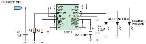 Типовая схема зарядного устройства на ...